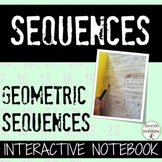 Geometric Sequences Color Coded Interactive Notebook Foldable