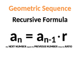 Geometric Sequence Poster