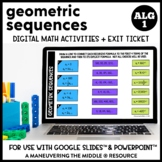 Geometric Sequences Digital Math Activity
