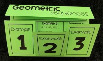 Geometric Sequences (Foldable)