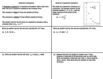 Geometric Sequences Foldable 2