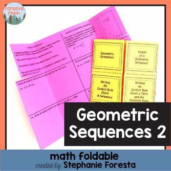 Geometric Sequences Foldable 2