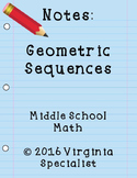 Geometric Sequences Guided Notes