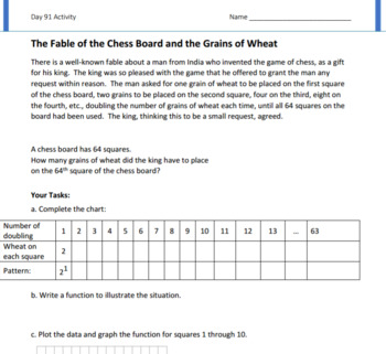 Geometric Sequences Lesson Plan F.IF.A.3