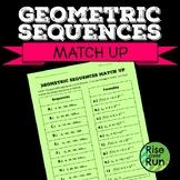 Geometric Sequences Match Up, Formulas