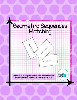 Geometric Sequences Matching
