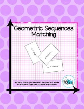 Geometric Sequences Matching