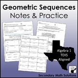 Geometric Sequences Notes & Practice (A12C, A12D)