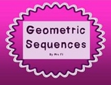Sequences and Series Unit - Geometric Sequences - Notes (flap book)