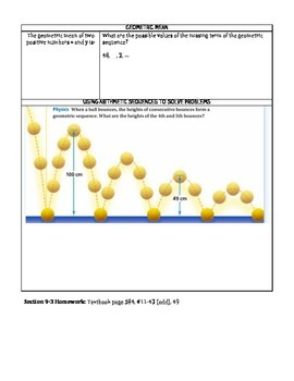 Geometric Sequences Notes/Graphic Organizer