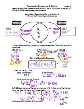 Geometric Sequences & Series Guided Notes