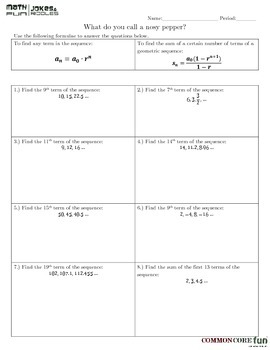 Geometric Sequences and Series