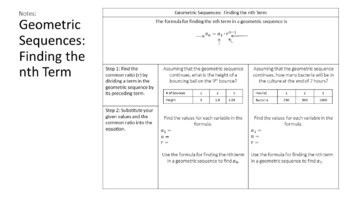 Geometric Sequences and Series - Scaffolded Notes & INB Activities