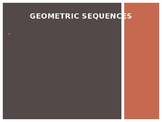 Geometric Sequences powerpoint