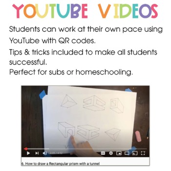 Geometric Shape 2 Point Perspective with Videos ART Project