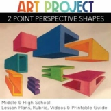 two-Point Perspective ART project Geometric Shapes exclusive videos and rubric