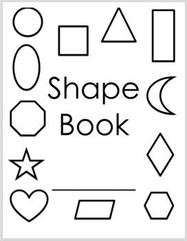 Geometric Shape Book - All Black & White - 12 Shapes