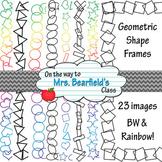 Geometric Shape Frames {BW & Rainbow}