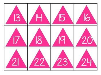 Geometric Shape Calendar Pieces
