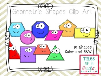 Geometric Shape Clip Art- Freebie