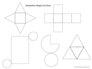 image relating to Printable Geometry Shapes referred to as Geometric Form Lower-Out Printable