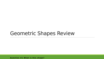 Geometric Shape Game