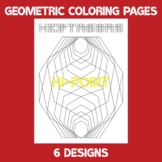 Geometric Shape Outline Designs for Color In Pattern Pages