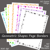 Geometric Shape Page Borders Clip Art for TPT Sellers