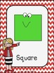 Geometric Shape Posters and Cards: Primary Chevron