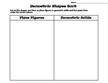 Geometric Shape Sort