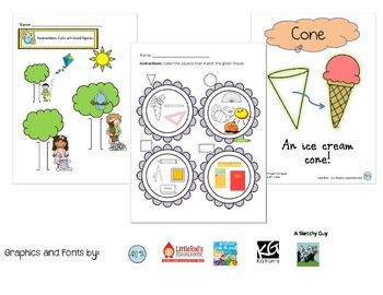 Shapes Worksheets with Answer Keys