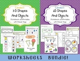 Comparing 2D And 3D Shapes Assessment, 2 And 3 Dimensional Shapes Worksheets