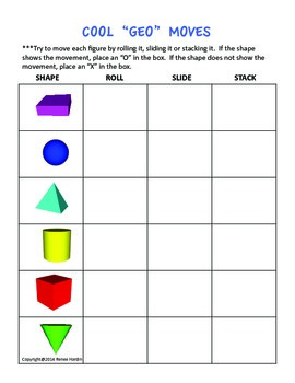 Geometric Shapes 3-D Solid Figures