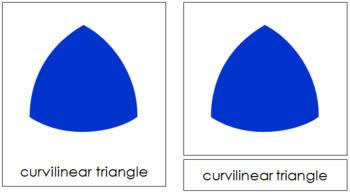 Geometric Shapes: 3-Part Cards