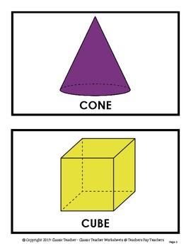 3D Shapes - Wall Displays - Grades 1-9 (1st-9th Grade)