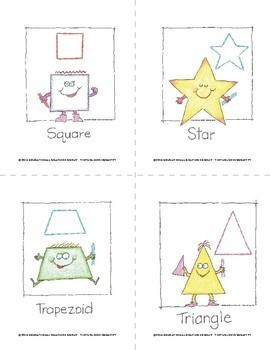 Color Geometric Shapes 4 on Every Page