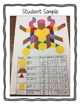 Geometric Shapes Art Project (Conversion: Fractions, Decimals and Percents)