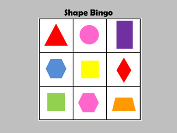 Geometric Shapes BINGO
