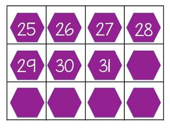 Geometric Shapes Calendar Pieces Set 3
