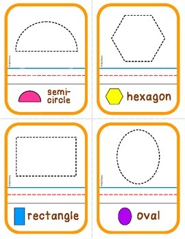Shapes:  Posters, Flashcards and Write & Wipe Cards (K.G.A.2)