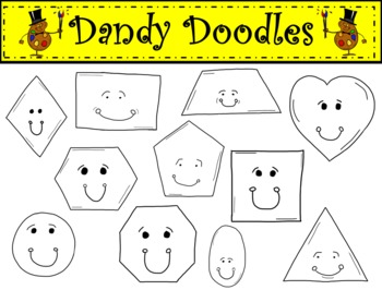 Geometric Shapes Clipart by Dandy Doodles