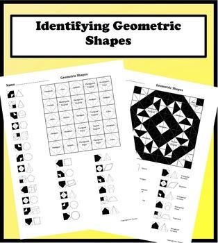 Geometric Shapes Color Worksheet