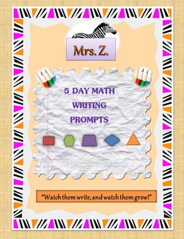 Geometric Shapes Daily Writing Prompts