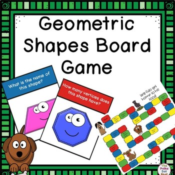 Geometric Shapes Dog-Themed Board Game