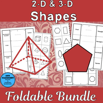 Geometry Shapes Foldables 2-D and 3-D