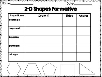 Geometric Shapes Formatives