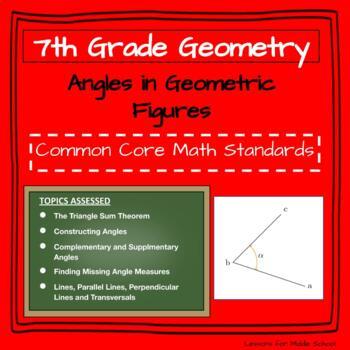 7th Grade Geometry: Angles in Geometric Figures