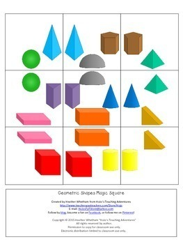 3D Shapes Activities, Worksheets Alternatives, or Math Center Games