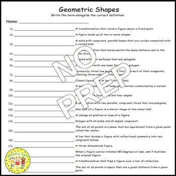 Geometric Shapes Matching