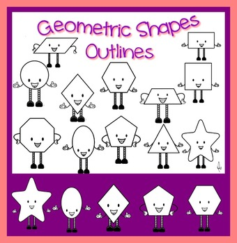 Math -Geometric Shapes Outlines Transparent and Transparen